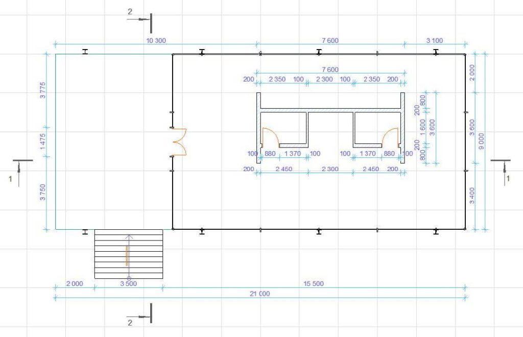 Создание разрезов, фасадов, вставка изображений и объектов в ArchiCAD-2