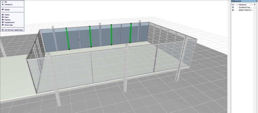 Навесные стены в ArchiCAD-21