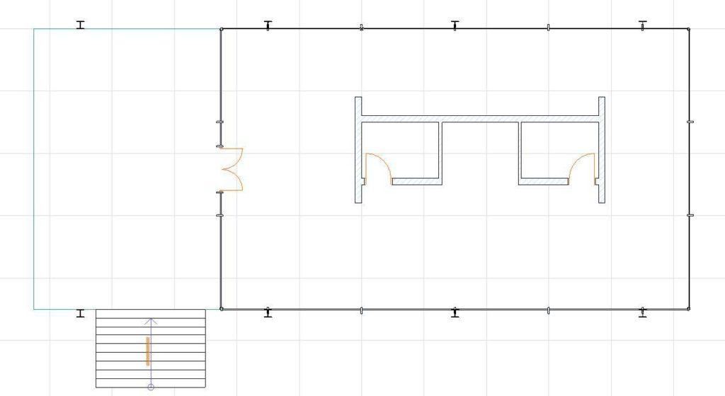 Двери, лестницы, этажи, крыша в ArchiCAD-24