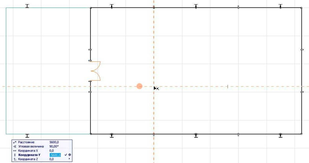 Создание внутренних стен в ArchiCAD-3