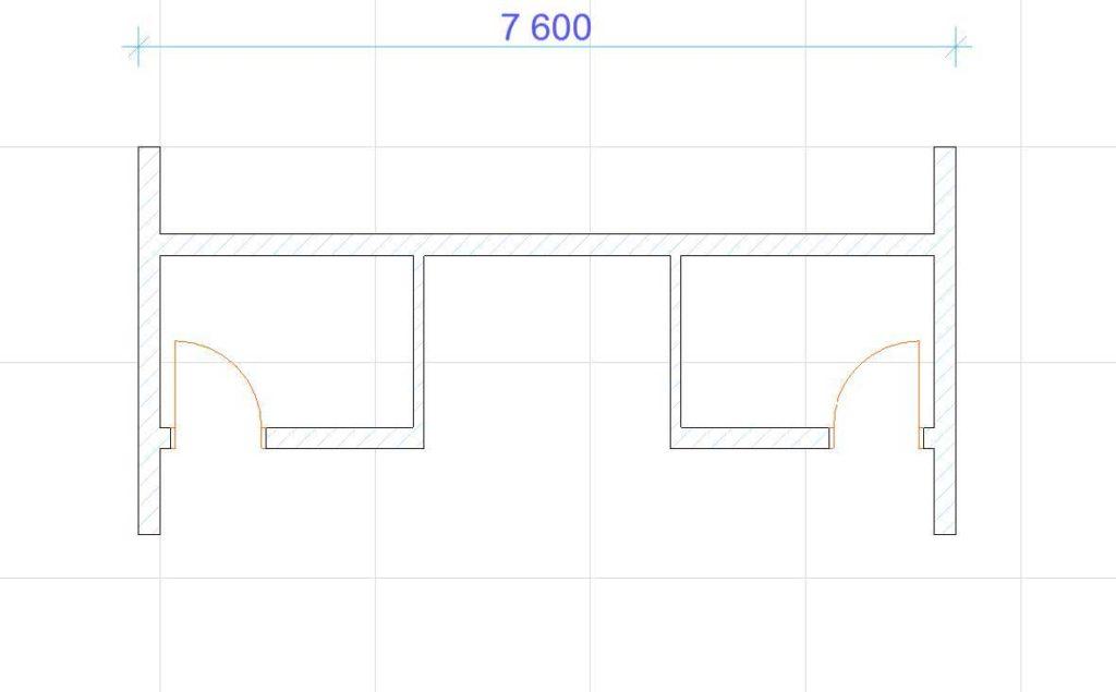 Нанесение размеров в ArchiCAD-4
