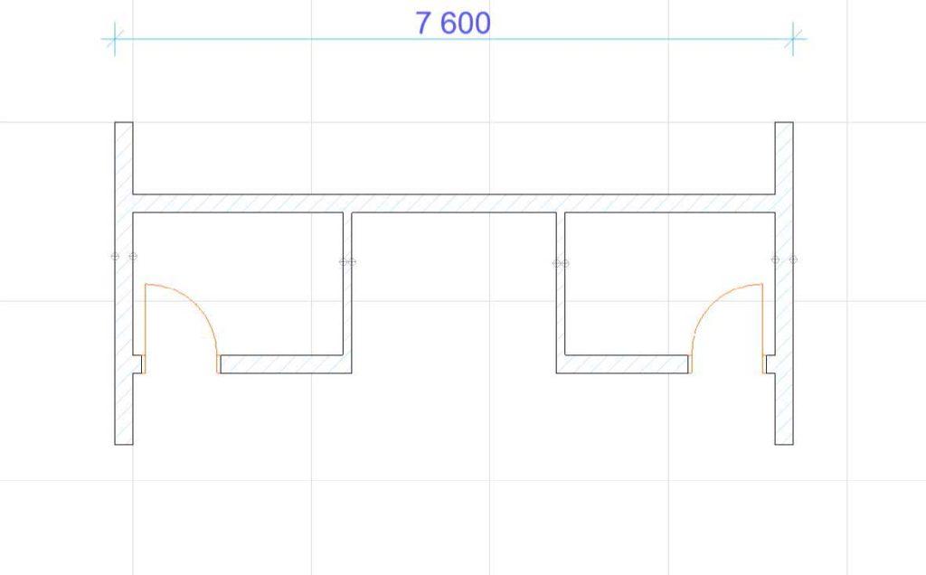 Нанесение размеров в ArchiCAD-5