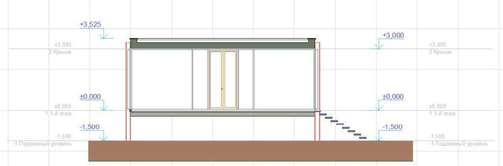 Создание разрезов, фасадов, вставка изображений и объектов в ArchiCAD-5