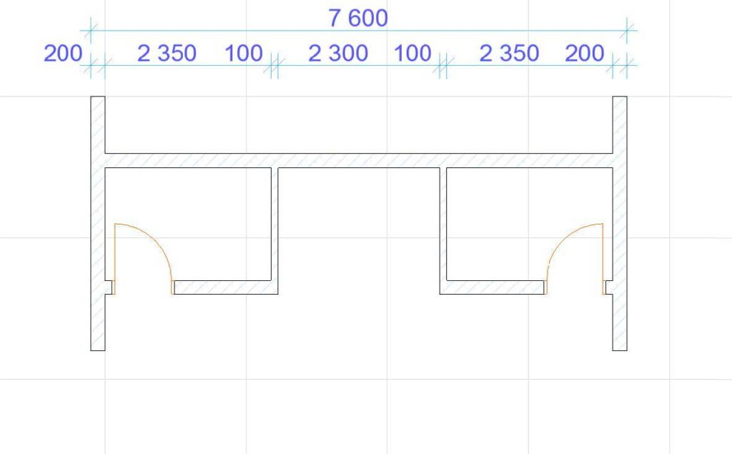 Нанесение размеров в ArchiCAD-6