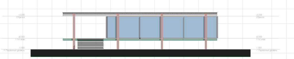 Создание разрезов, фасадов, вставка изображений и объектов в ArchiCAD-6