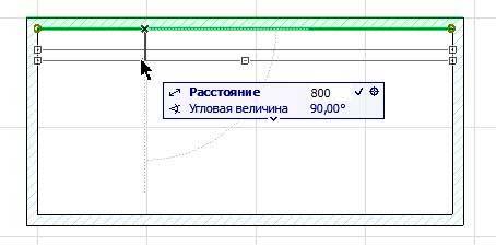 Создание внутренних стен в ArchiCAD-8