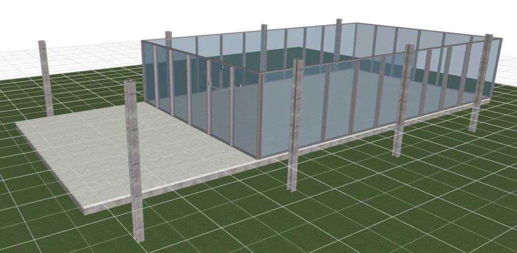 Навесные стены в ArchiCAD-9