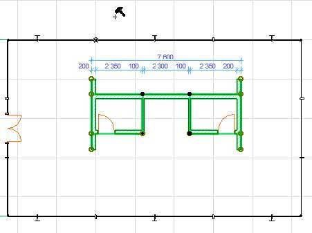 Нанесение размеров в ArchiCAD-9