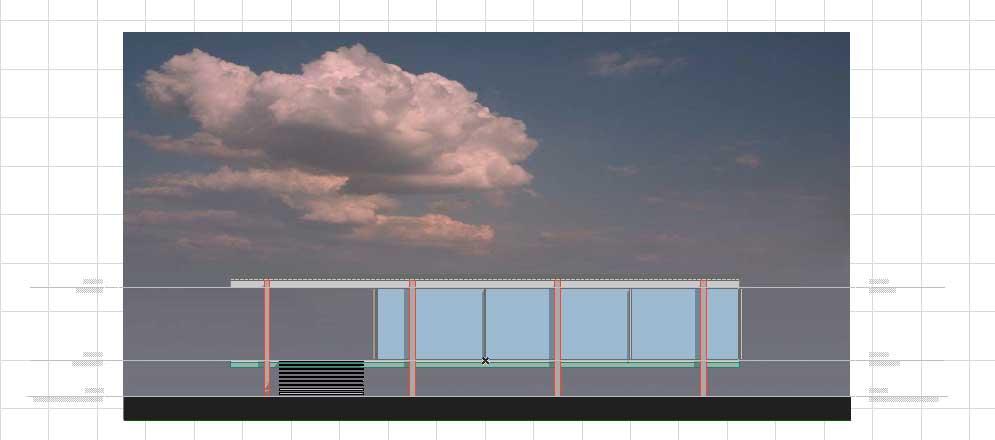 Создание разрезов, фасадов, вставка изображений и объектов в ArchiCAD-9