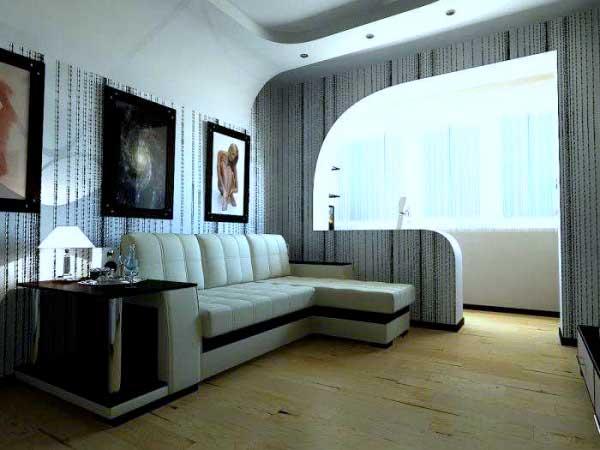 Совмещение балкона с комнатой 21