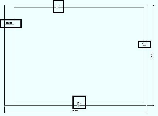 Размеры области печати документы