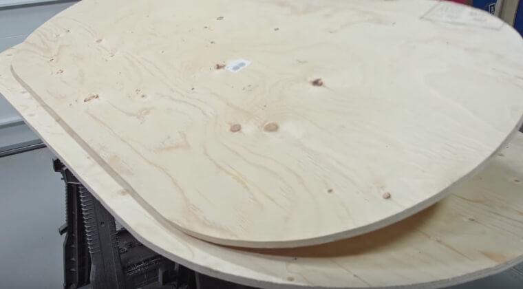 Изготовление второй детали стола