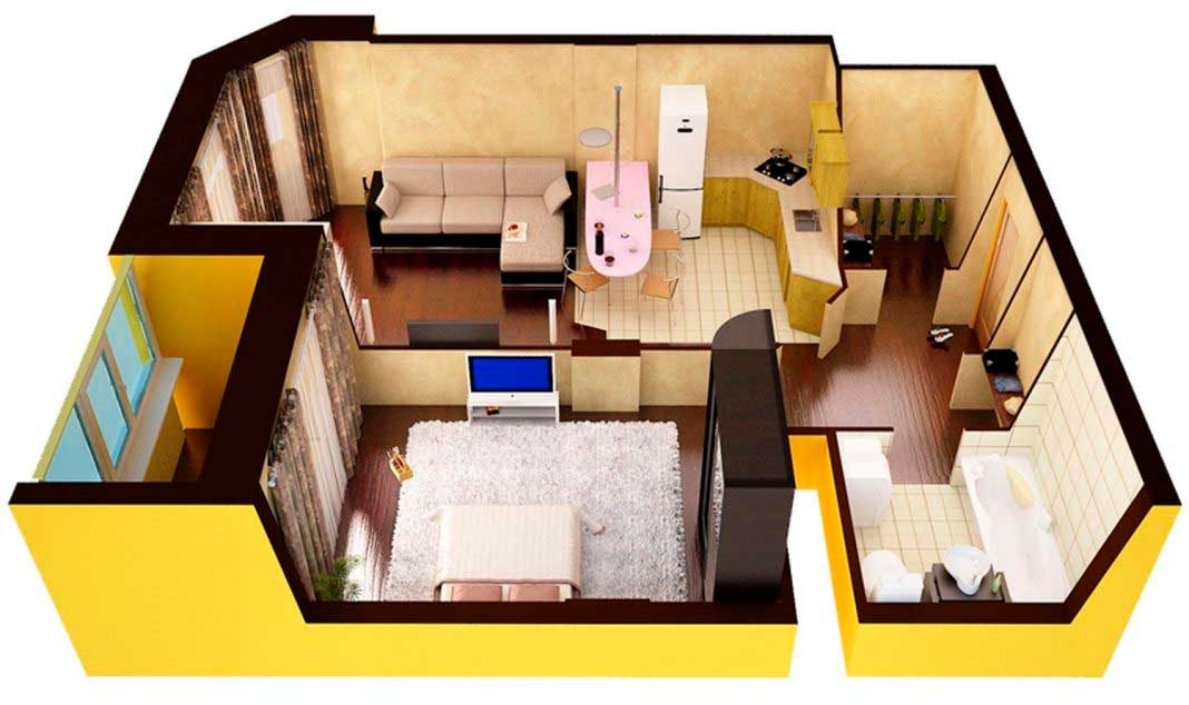 Проект эффективного планирования квартиры