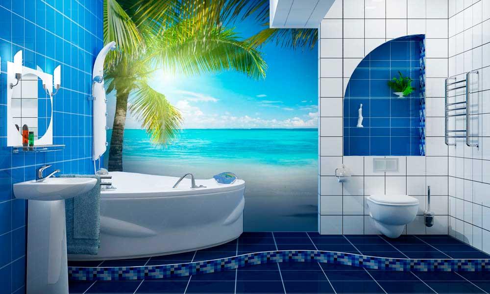 Выбираем обои для ванной комнаты