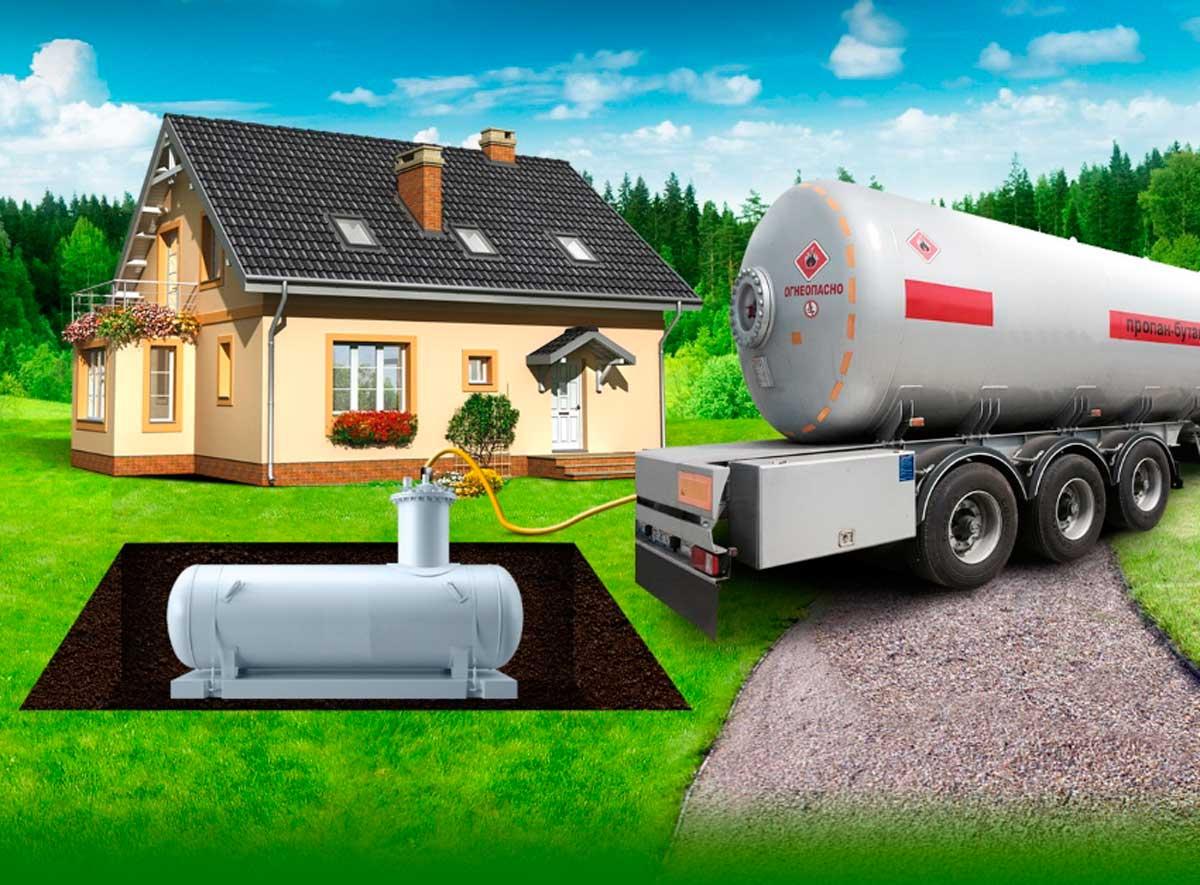 Монтаж резервуара для газа