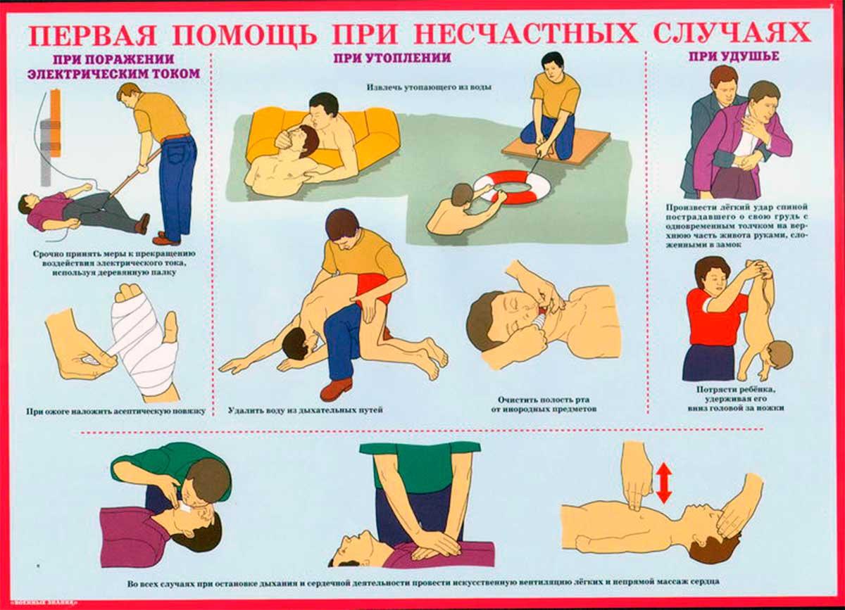 Правила оказания первой помощи