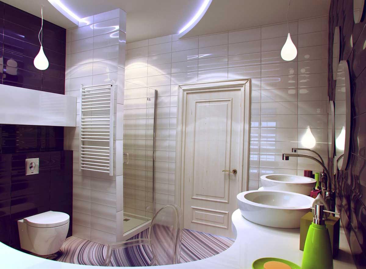 Компактная ванная туалет комната