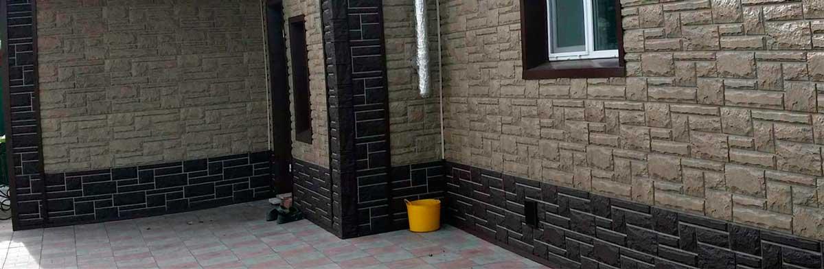 Отделка фасадов частного дома