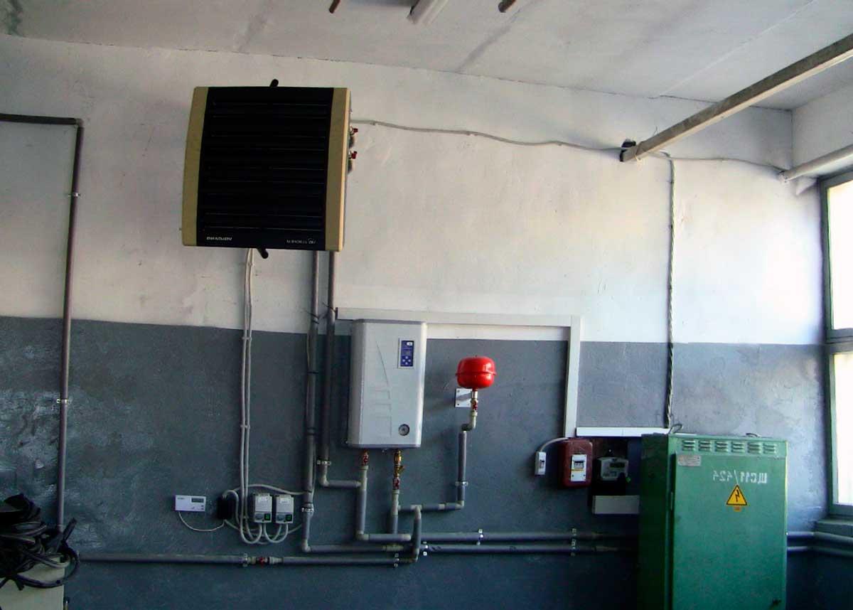 Тепловентилятор в помещении