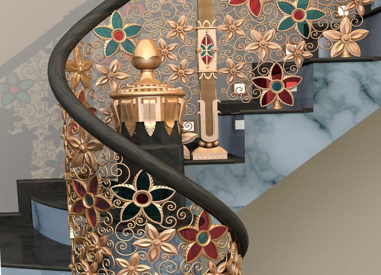 Оригинальная лестница в доме