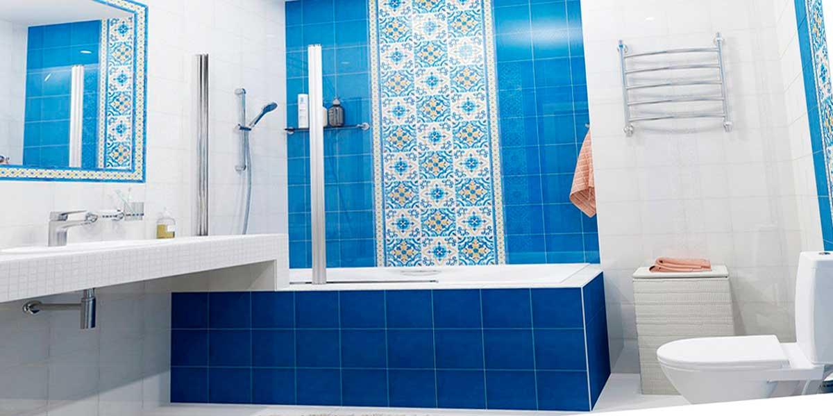 Узорная плитка для ванной комнаты