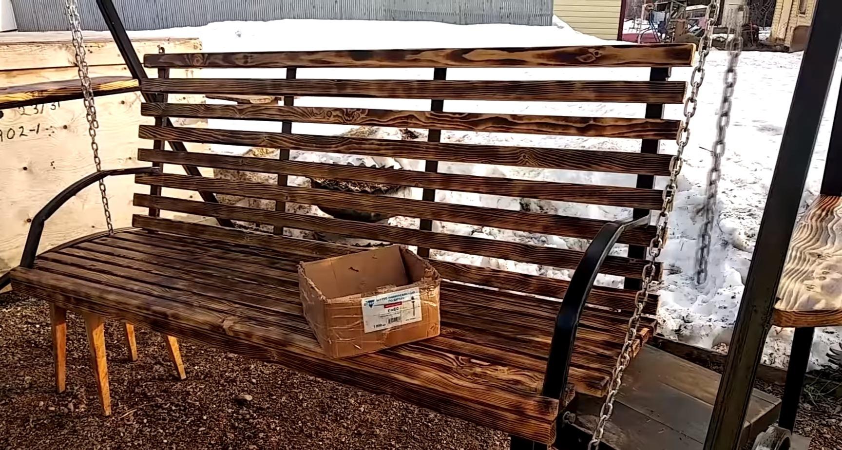 Садовые качели из металла своими руками - Фото