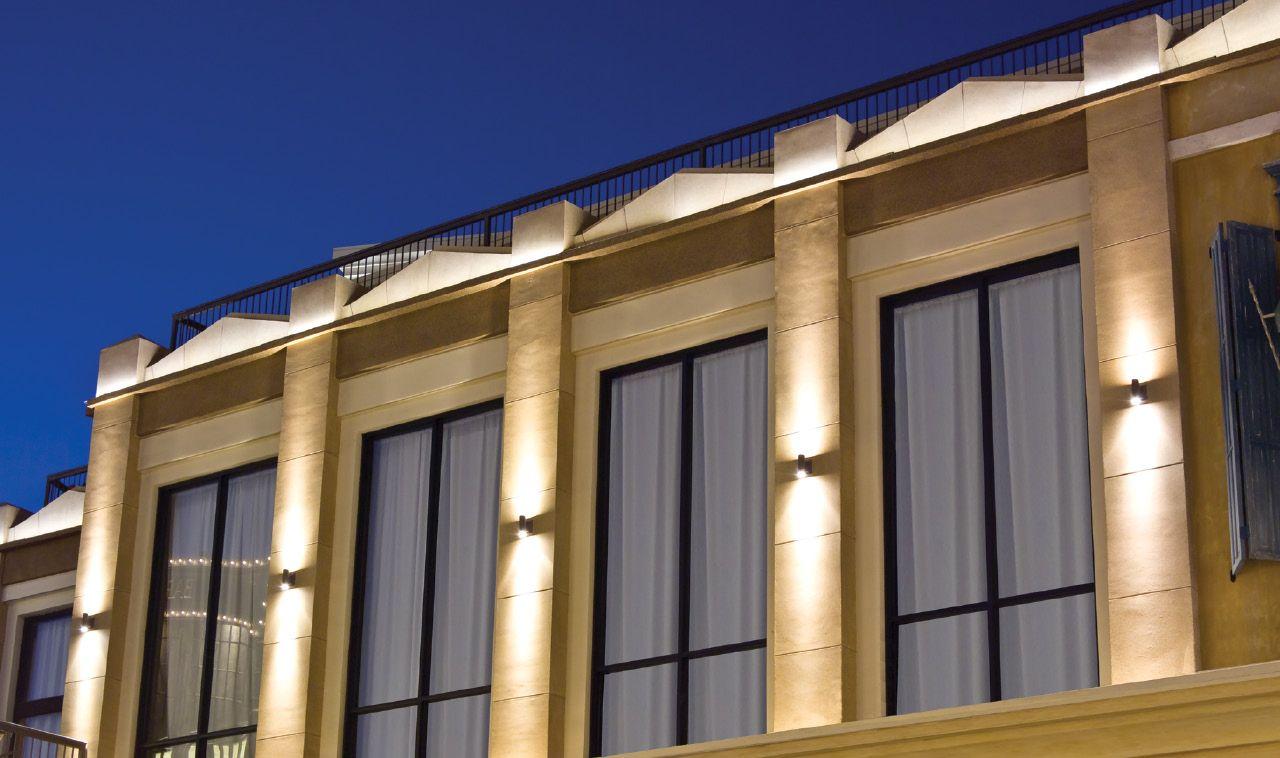 Обзор типов фасадной подсветки